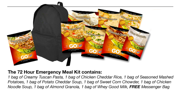 72 Hour Emergency Meal Backpack