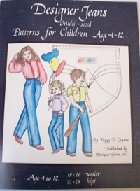 Multisized Designer Jeans Pattern for Children