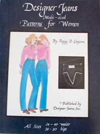 Multisized Designer Jeans Patterns For Women