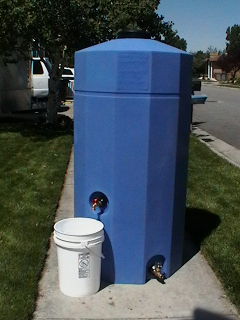 Water storage tank 185 gallon