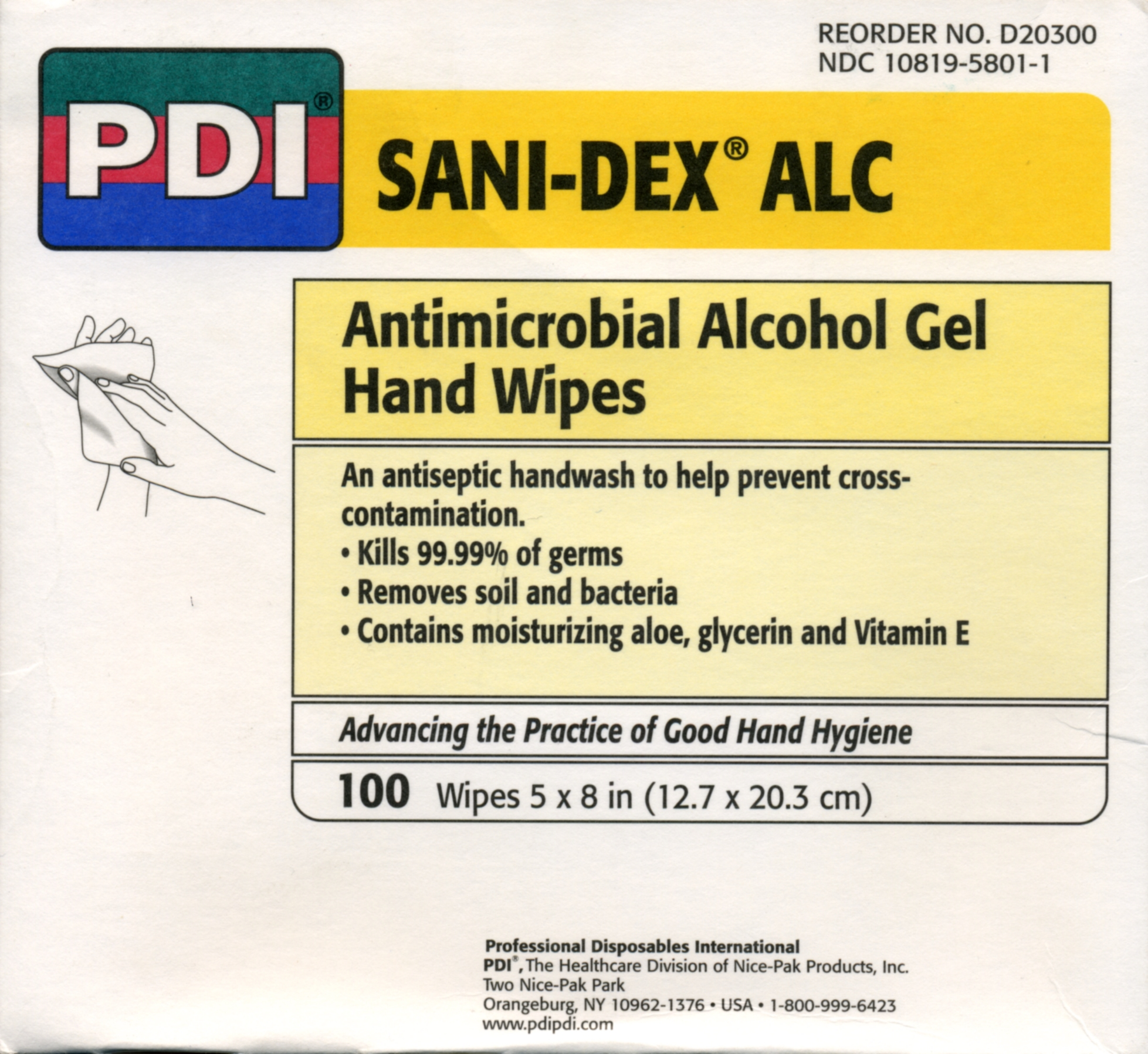 Sani-Dex Alcohol Wipes